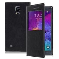 Microsonic Samsung Galaxy Note 4 View Cover Delux Kapaklı Kılıf Siyah - CS150-V-DLX-GLX-NOTE4-SYH