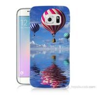 Teknomeg Samsung Galaxy S6 Edge Kapak Kılıf Renkli Balonlar Baskılı Silikon