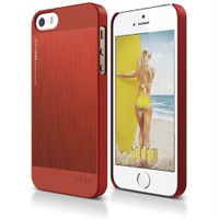 Elago Apple iPhone 5 5S Alüminyum Kılıf Kırmızı