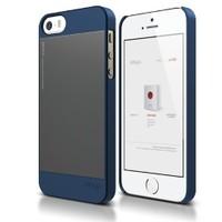 Elago Apple iPhone 5 5S Outfit Kılıf Lacivert Gri