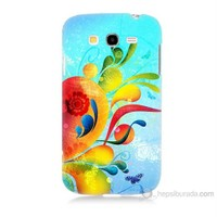 Teknomeg Samsung Galaxy Grand Duos Kapak Kılıf Renkli Desen Baskılı Silikon