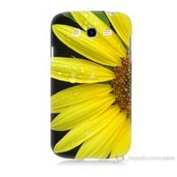 Teknomeg Samsung Galaxy Grand Duos Kapak Kılıf Sarı Çiçek Baskılı Silikon