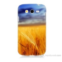 Teknomeg Samsung Galaxy Grand Duos Kapak Kılıf Sarı Mavi Baskılı Silikon