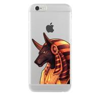 Remeto iPhone 6/6S Şeffaf Silikon Resimli Çakal Tanrı Anubis