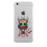 Remeto iPhone 6/6S Şeffaf Silikon Resimli Maskeli Kızılderili