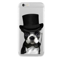 Remeto Samsung Galaxy S7 Soylu Köpek Transparan Silikon Resimli Kılıf