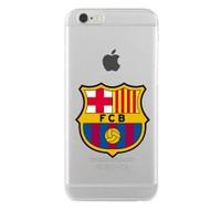 Remeto Samsung Galaxy S7 Transparan Silikon Resimli Barcelona Logo