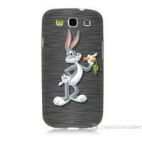 Teknomeg Samsung Galaxy S3 Kapak Kılıf Bugs Bunny Baskılı Silikon