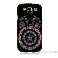 Teknomeg Samsung Galaxy S3 Kapak Kılıf Kaptan Amerika Baskılı Silikon