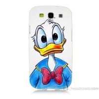 Teknomeg Samsung Galaxy S3 Kapak Kılıf Donald Duck Baskılı Silikon