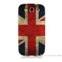Teknomeg Samsung Galaxy S3 Kapak Kılıf İngiltere Bayrağı Baskılı Silikon