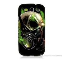 Teknomeg Samsung Galaxy S3 Kapak Kılıf Ölüm Maskesi Baskılı Silikon