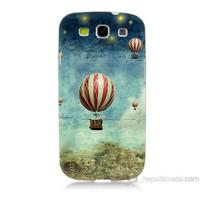 Teknomeg Samsung Galaxy S3 Kapak Kılıf Uçan Balon Baskılı Silikon