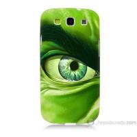 Teknomeg Samsung Galaxy S3 Kapak Kılıf Hulk Yeşil Dev Baskılı Silikon