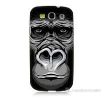 Teknomeg Samsung Galaxy S3 Kapak Kılıf Goril Baskılı Silikon