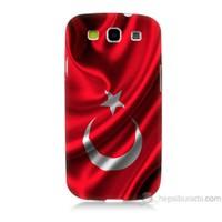 Teknomeg Samsung Galaxy S3 Kapak Kılıf Türkiye Bayrağı Baskılı Silikon