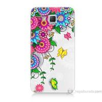 Teknomeg Samsung Galaxy Grand Max Kapak Kılıf Çiçek Ve Kelebek Baskılı Silikon
