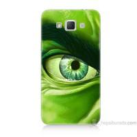 Teknomeg Samsung Galaxy Grand Max Kapak Kılıf Hulk Yeşil Dev Baskılı Silikon