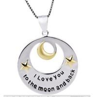 Köstebek I Love You To Moon And Back Kolye