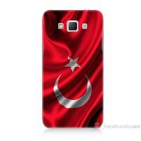 Teknomeg Samsung Galaxy Grand Max Kapak Kılıf Türkiye Bayrağı Baskılı Silikon