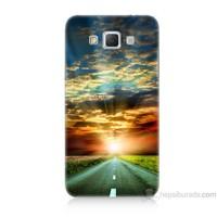 Teknomeg Samsung Galaxy Grand Max Kapak Kılıf Yol Baskılı Silikon
