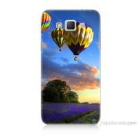 Teknomeg Samsung Galaxy Grand Max Kapak Kılıf Uçan Balon Baskılı Silikon