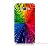Teknomeg Samsung Galaxy Grand Max Kapak Kılıf Renkler Baskılı Silikon