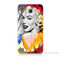 Teknomeg Samsung Galaxy Grand Max Kapak Kılıf Marilyn Monroe Baskılı Silikon