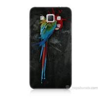 Teknomeg Samsung Galaxy Grand Max Kapak Kılıf Papağan Baskılı Silikon