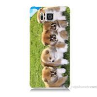Teknomeg Samsung Galaxy Alpha Kapak Kılıf Sevimli Köpek Baskılı Silikon