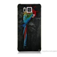 Teknomeg Samsung Galaxy Alpha Kapak Kılıf Papağan Baskılı Silikon