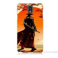Teknomeg Samsung Galaxy Note 3 Kapak Kılıf Red Steel Baskılı Silikon