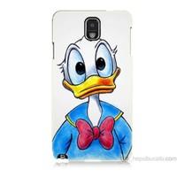Teknomeg Samsung Galaxy Note 3 Kapak Kılıf Donald Duck Baskılı Silikon