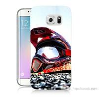 Teknomeg Samsung Galaxy S6 Edge Plus Kapak Kılıf Kask Baskılı Silikon