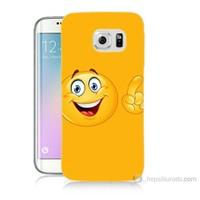Teknomeg Samsung Galaxy S6 Edge Plus Kapak Kılıf Emoji Baskılı Silikon