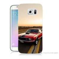 Teknomeg Samsung Galaxy S6 Edge Plus Kapak Kılıf Araba Baskılı Silikon