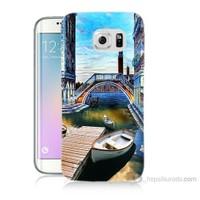 Teknomeg Samsung Galaxy S6 Edge Plus Kapak Kılıf Tekneler Tablo Baskılı Silikon