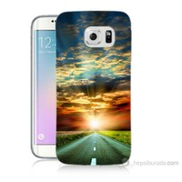 Teknomeg Samsung Galaxy S6 Edge Plus Kapak Kılıf Yol Baskılı Silikon