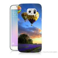 Teknomeg Samsung Galaxy S6 Edge Plus Kapak Kılıf Uçan Balon Baskılı Silikon