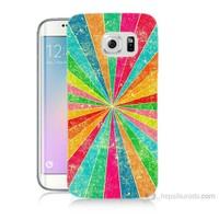 Teknomeg Samsung Galaxy S6 Edge Plus Kapak Kılıf Renk Efekti Baskılı Silikon