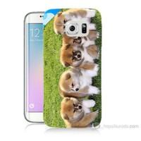 Teknomeg Samsung Galaxy S6 Edge Plus Kapak Kılıf Sevimli Köpek Baskılı Silikon