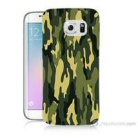 Teknomeg Samsung Galaxy S6 Edge Plus Kapak Kılıf Kamufulaj Baskılı Silikon
