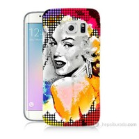Teknomeg Samsung Galaxy S6 Edge Plus Kapak Kılıf Marilyn Monroe Baskılı Silikon