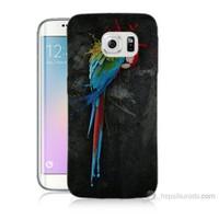 Teknomeg Samsung Galaxy S6 Edge Plus Kapak Kılıf Papağan Baskılı Silikon