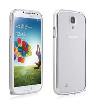 Microsonic Samsung Galaxy S4 i9500 Ultra Thin Metal Bumper Kılıf Gümüş - Cs180-Mtl-Bmp-Glx-S4-Gms