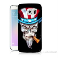 Teknomeg Samsung Galaxy S6 Edge Kapak Kılıf Sam Amca Baskılı Silikon