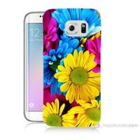 Teknomeg Samsung Galaxy S6 Edge Kapak Kılıf Kasımpatı Baskılı Silikon