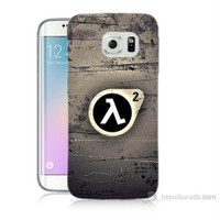 Teknomeg Samsung Galaxy S6 Edge Kapak Kılıf Half Life Baskılı Silikon