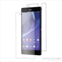 Teleplus Sony Xperia T2 Ultra Ön Ve Arka Cam Ekran Koruyucu Film