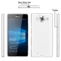 Teleplus Microsoft Lumia 950 Xl Silikon Kılıf Şeffaf
